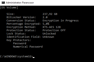 titkosítási folyamat ellenőrzése